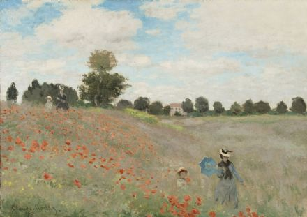 Monet, Claude: Wild Poppies, near Argenteuil. Fine Art Print/Poster. Sizes: A4/A3/A2/A1 (003218)
